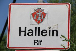 Ortstafel Hallein Rif
